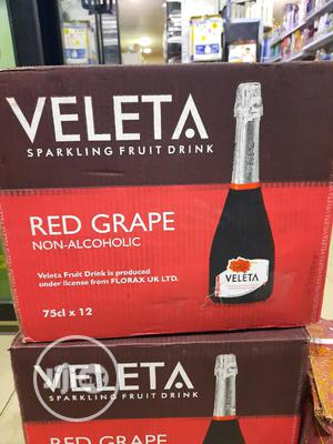 Veleta Sparkling Fruit Non-alcoholic Red Grape Wine Carton | Meals & Drinks for sale in Lagos State, Surulere