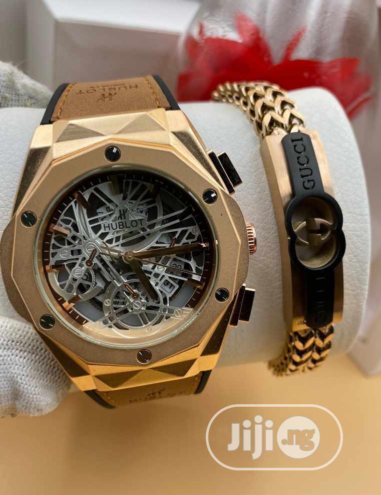 Skeletal Hublot Watch and Bracelet