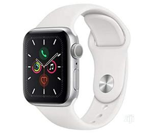 Apple Watch Series 5 (44mm) With White Sports Band | Smart Watches & Trackers for sale in Lagos State, Ikeja