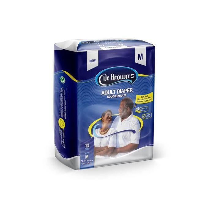 Dr Brown Dr.Brown Adult Diaper (10 Pacs Per Bag),Meduium