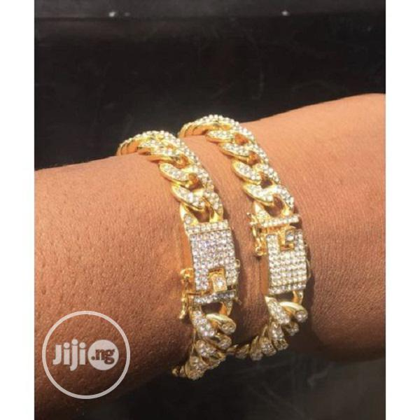 Archive: Two Iced Out Cuban Link Bracelet Unisex