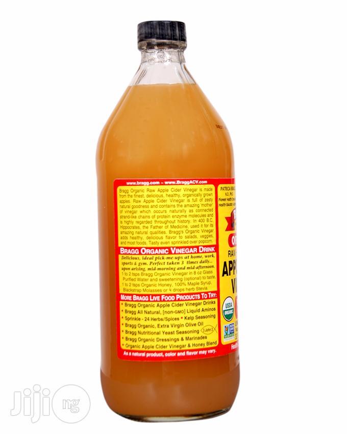 Organic Raw Filtered Apple Cider Vinegar-32 FL OZ (Big Size) | Vitamins & Supplements for sale in Magodo, Lagos State, Nigeria