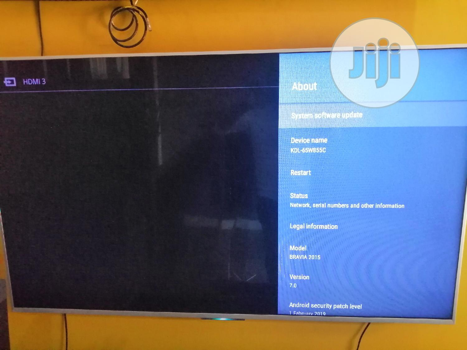 """Sony Android Smart TV 65"""" 