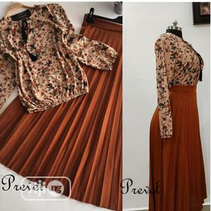 Quality Turkey Women 2 Piece Pleat Skirt and Top Set   Clothing for sale in Lagos State, Ifako-Ijaiye