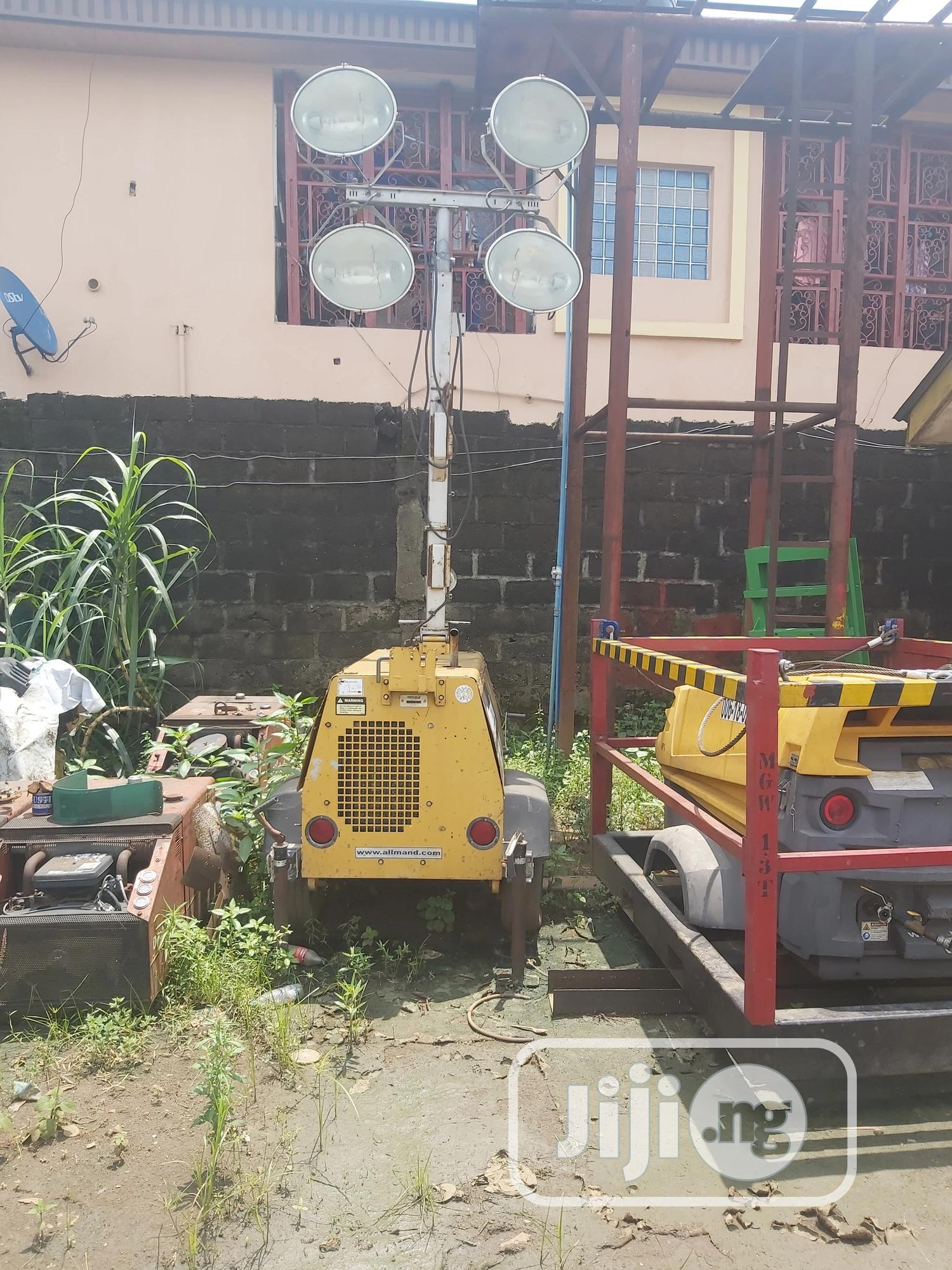 Allmand Tower Light With Caterpillar Engine | Manufacturing Equipment for sale in Port-Harcourt, Rivers State, Nigeria