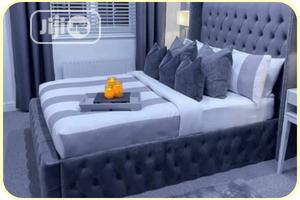 6 By 6 Padded Bed Frame, Upholstery | Furniture for sale in Lagos State, Ikeja
