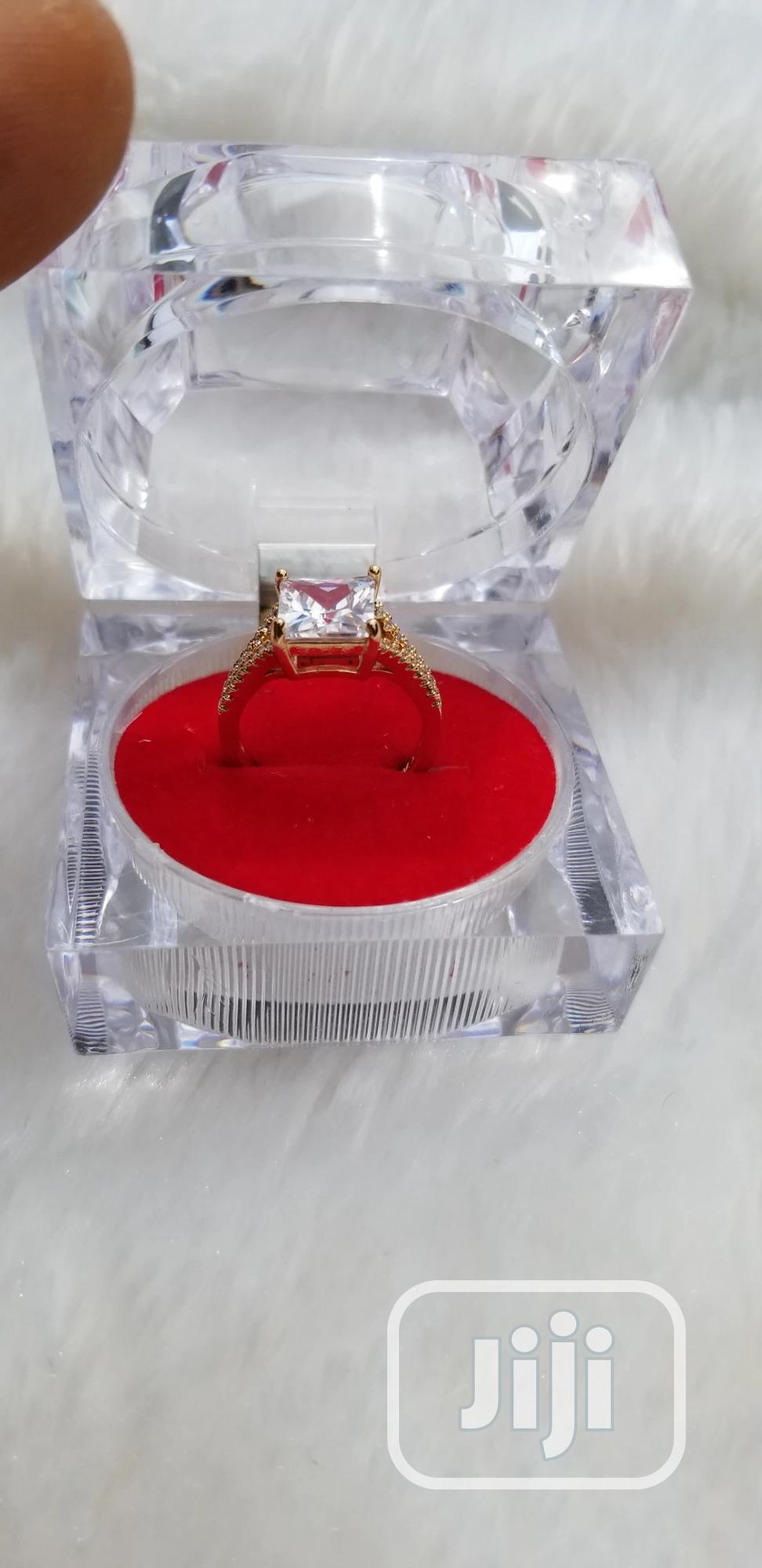 Gold Plated Engagement Proposal Ring | Wedding Wear & Accessories for sale in Ajah, Lagos State, Nigeria