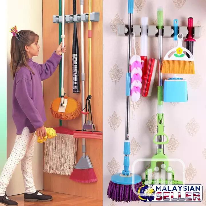 Archive: EZ Easy Mop And Broom Holder - 5 Place Holders