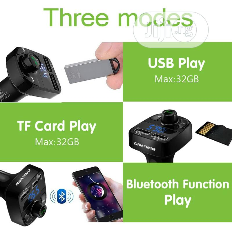 Car Mp3 Player Bluetooth 5.0 FM Transmitter | Audio & Music Equipment for sale in Ajah, Lagos State, Nigeria