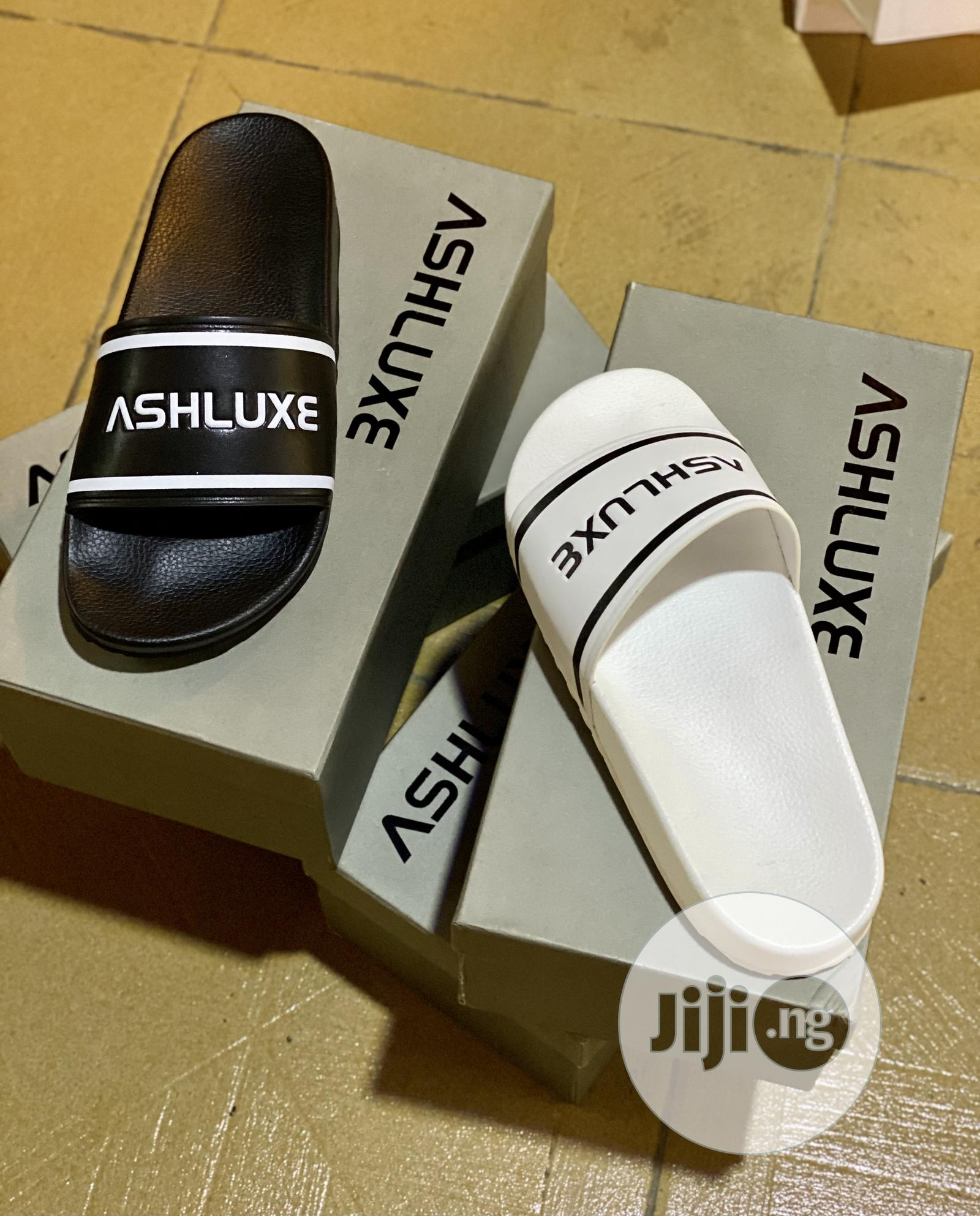 Original Ashluxe Slides With Box. | Shoes for sale in Alimosho, Lagos State, Nigeria