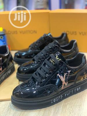 Classic Louis Vuitton Black Patent Leather Sneaker | Shoes for sale in Lagos State, Ikorodu