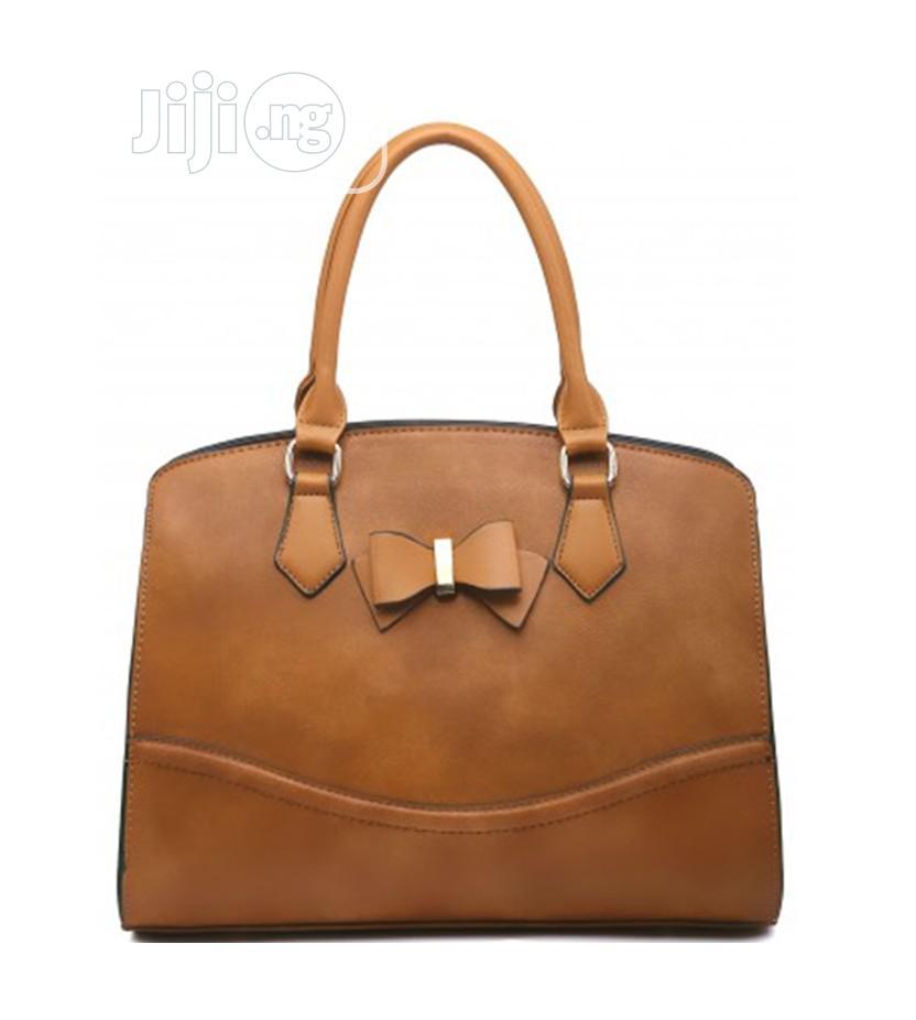 Ladies New Season Faux Leather Bow Handbag Doctor Shoulder B