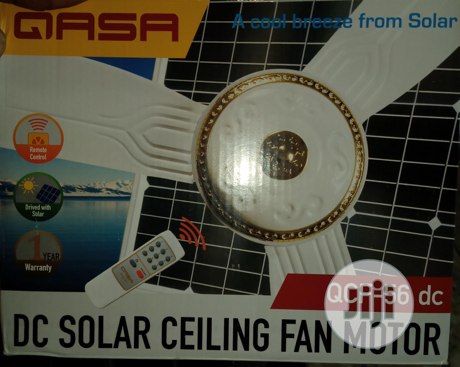 Solar Ceiling Fan 12V DC 56inches With Remote | Solar Energy for sale in Ikorodu, Lagos State, Nigeria