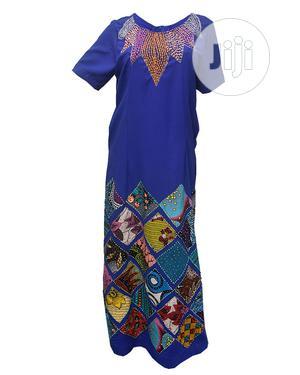 Ladies Patches Ankara Kaftan -royal Blue   Clothing for sale in Lagos State, Ikeja