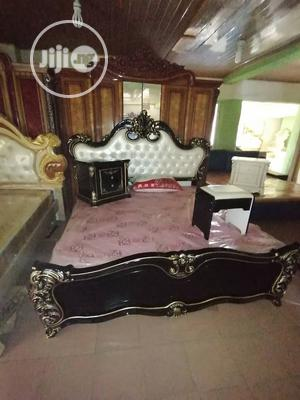 Royal Bed With Two Side Drawer and Dressing Mirror   Furniture for sale in Lagos State, Ojo