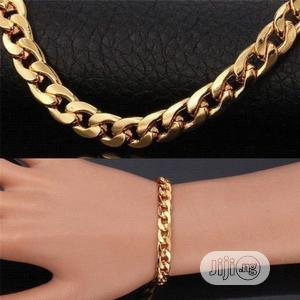 Stunning Mens Gold Chain With Bracelet   Jewelry for sale in Lagos State, Ikeja