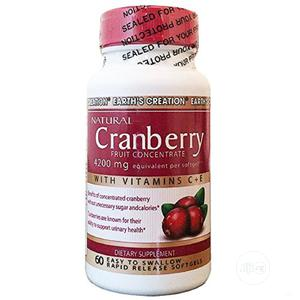 Earth Creation Cranberry Fruit Concentrate 4200mg 60 Caps | Vitamins & Supplements for sale in Lagos State, Ipaja