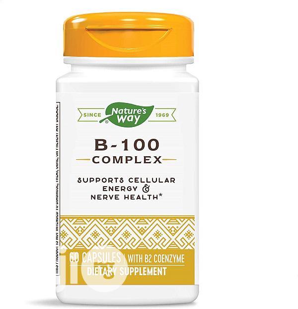 Nature's Way Vitamin B-100 Complex, 60 Capsules