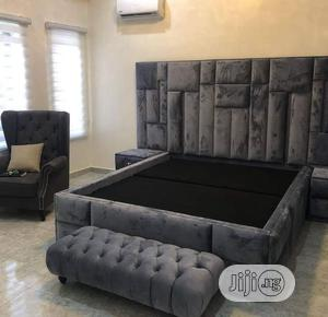 King Size Upholstery Bed | Furniture for sale in Lagos State, Ojo