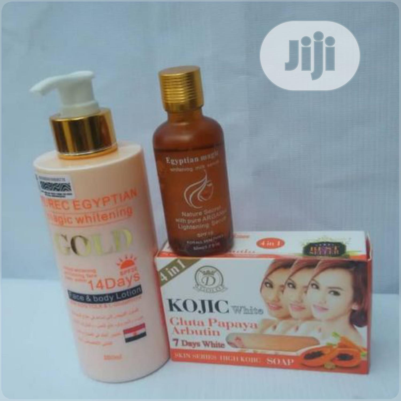 Pure Egyptian Magic Whitening Body Cream, Serum and Soap,