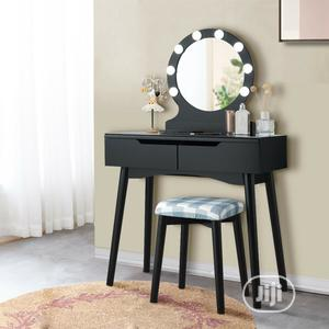 Vanity Dressing Table Makeup Desk With LED Round Mirror | Furniture for sale in Lagos State, Lagos Island (Eko)
