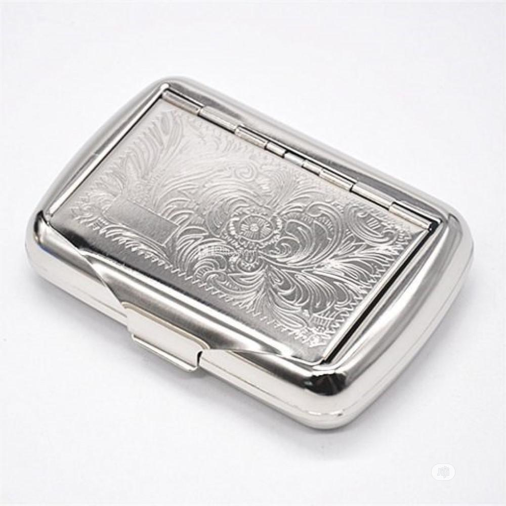 Metal Cigarette Case - Silver | Tobacco Accessories for sale in Port-Harcourt, Rivers State, Nigeria