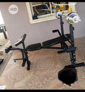 Weight Bench With 50kg Dumbbells Set | Sports Equipment for sale in Lagos State, Ikeja