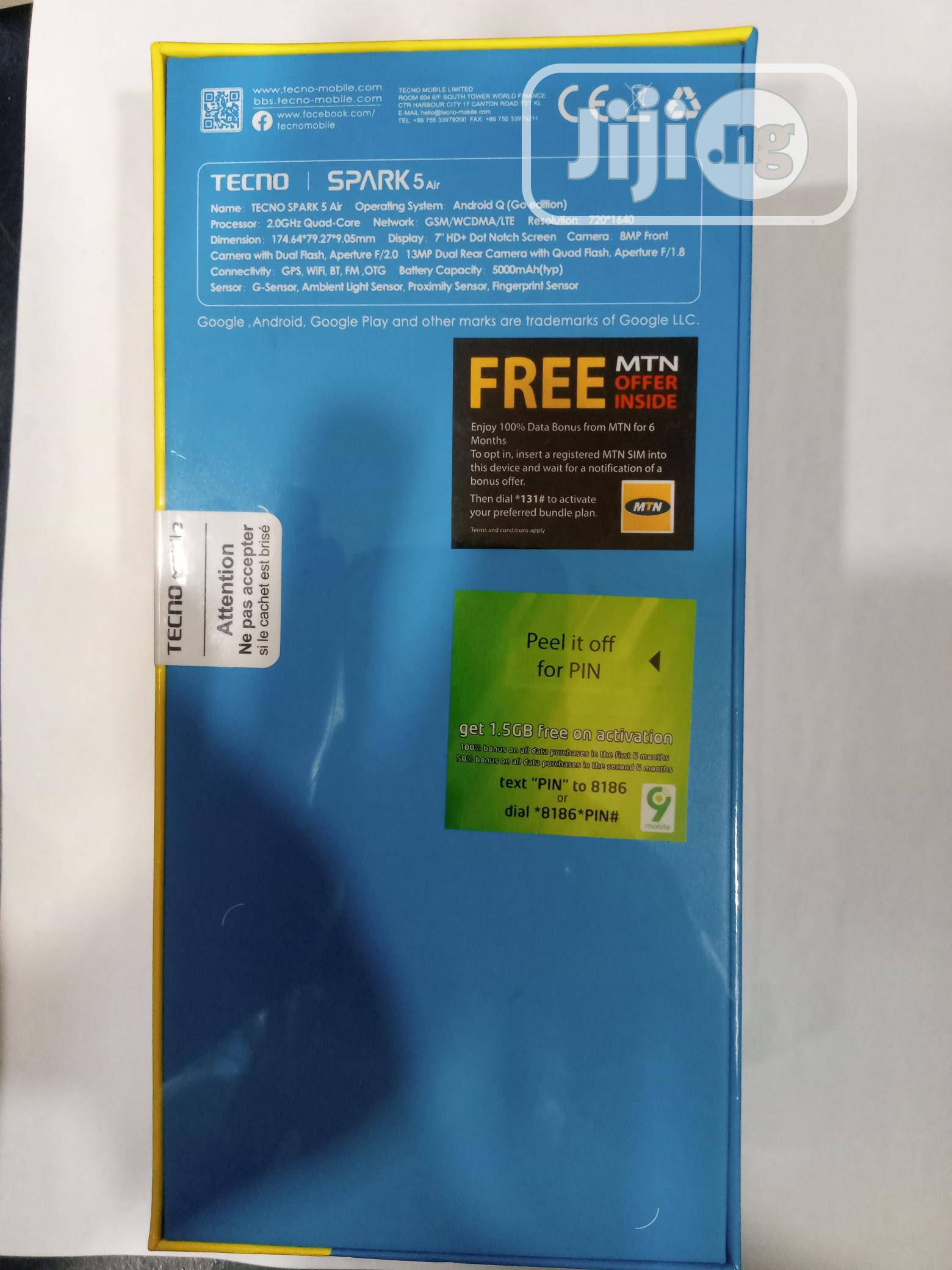 New Tecno Spark 5 Air 32 GB | Mobile Phones for sale in Ikeja, Lagos State, Nigeria