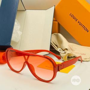 Unisex Red Color Louis Vuitton Designer Sunglasses | Clothing Accessories for sale in Lagos State, Lagos Island (Eko)