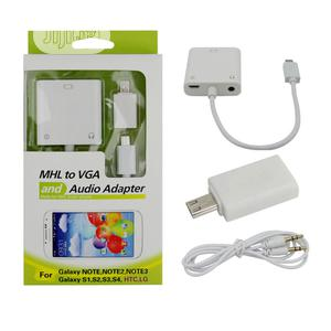 Micro USB Mhl To VGA Audio Cable Adapter For Samsung/HTC/LG   Accessories & Supplies for Electronics for sale in Lagos State, Ikeja