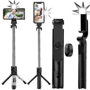 Selfie Stick With Tripod Stand Remote And Flashlight | Accessories for Mobile Phones & Tablets for sale in Lagos State, Ikeja