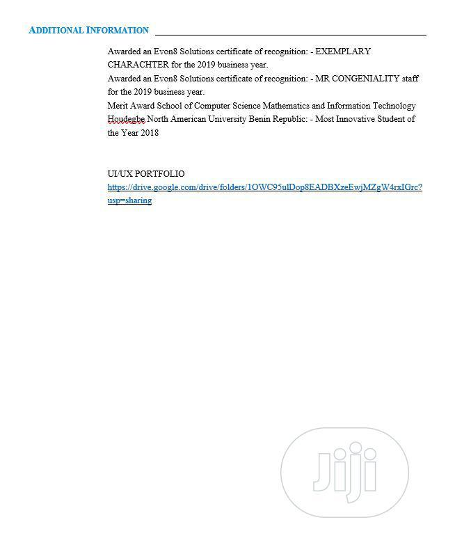 Computing & IT CV | Computing & IT CVs for sale in Ajah, Lagos State, Nigeria