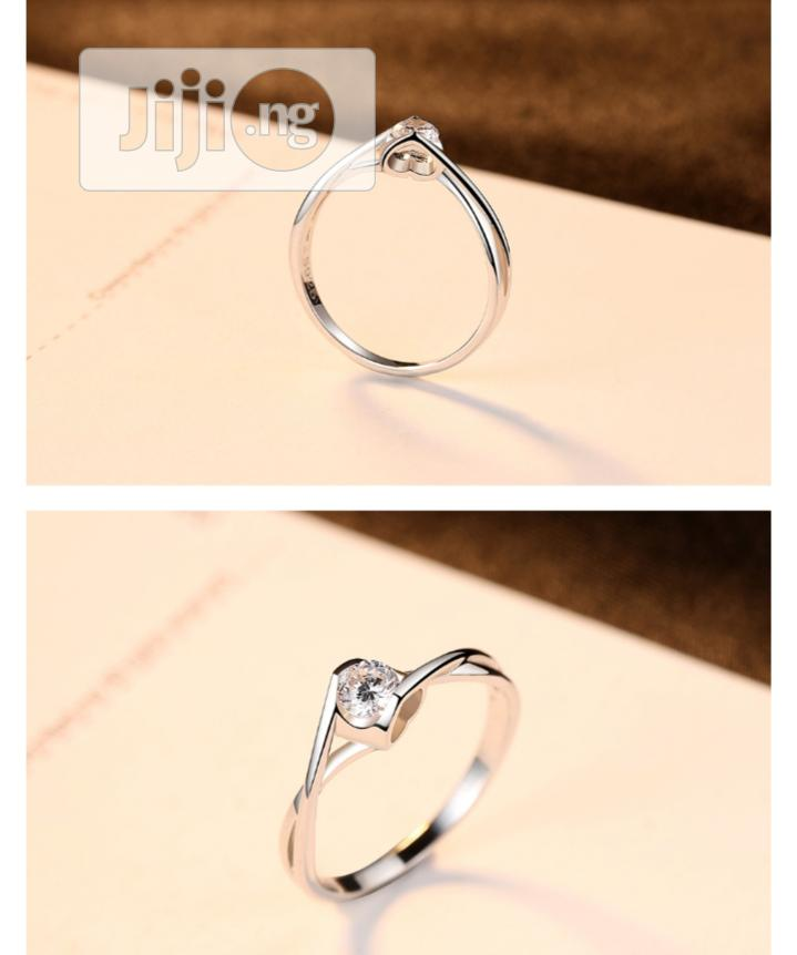 Archive: Twist Pure 925 Sterling Silver Engagement Ring