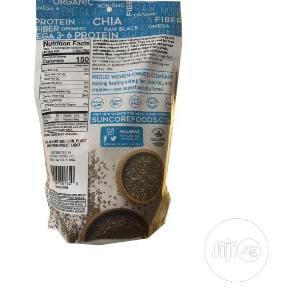 Archive: SUNCORE Organic Black Chia Seeds, 15oz Bag, Gluten Free And