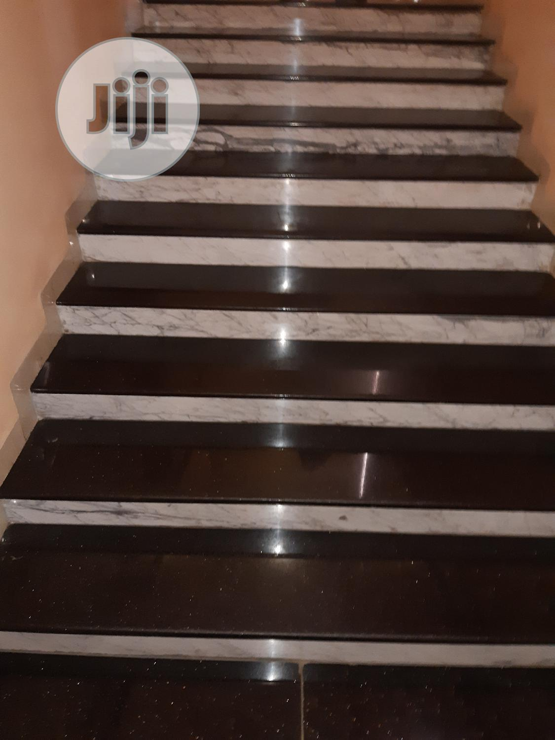 White Slab And Black Galaxy Floor Tiles | Building Materials for sale in Orile, Lagos State, Nigeria