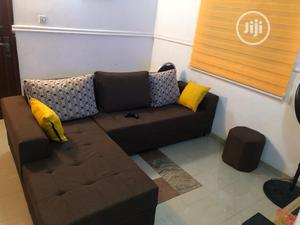 New Set Of L-shaped Fabric Sofa And An Ottoman | Furniture for sale in Lagos State, Ajah