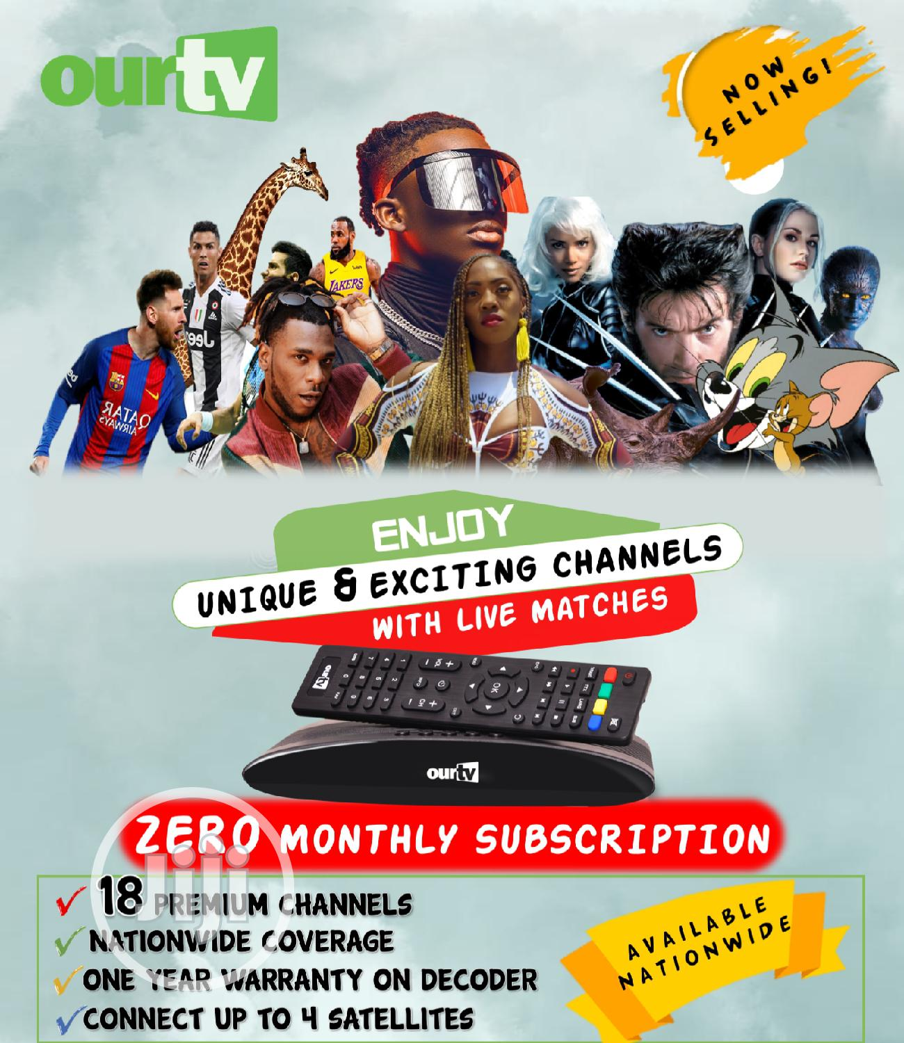 Free to Air Decorder in Nigeria for Sport Viewing Ourtv | Accessories & Supplies for Electronics for sale in Dutse-Alhaji, Abuja (FCT) State, Nigeria