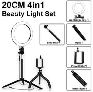 20cm 4in1 Ring Light + Tripod Stand Set | Accessories & Supplies for Electronics for sale in Lagos State, Alimosho