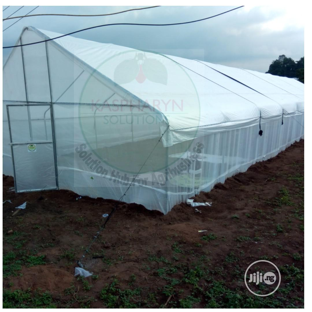 Galvanized Greenhouse And Drip Irrigation Installation