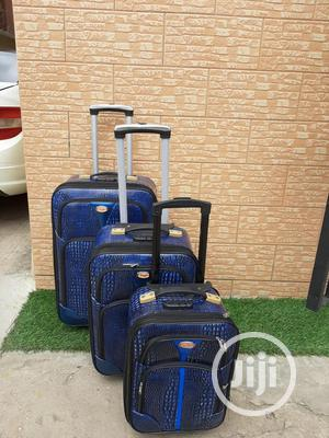 Blue Push Trolley Wheels Travel Bag For Students | Bags for sale in Lagos State, Ikeja