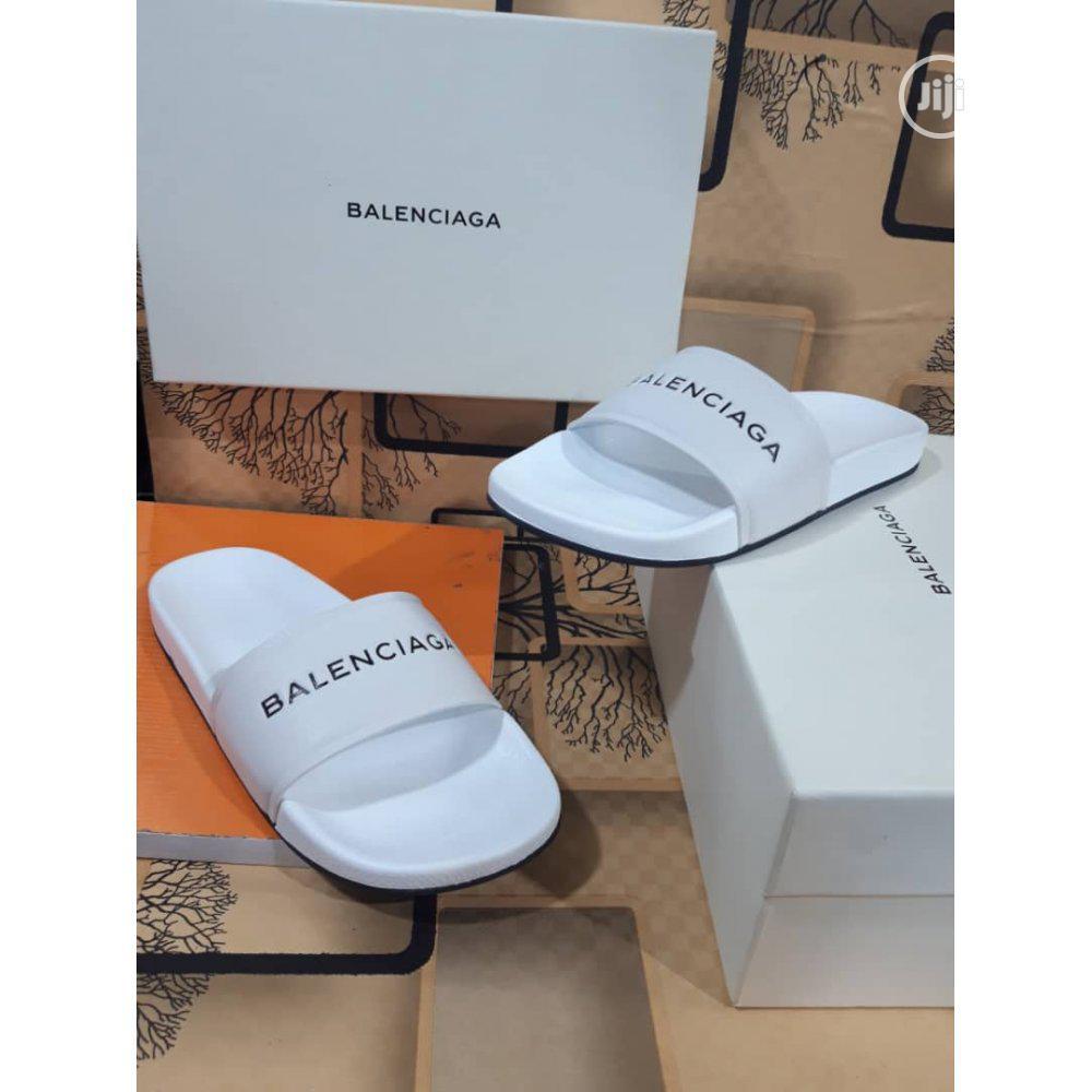 Logo-embossed Rubber Slides (White) - Balenciaga J11