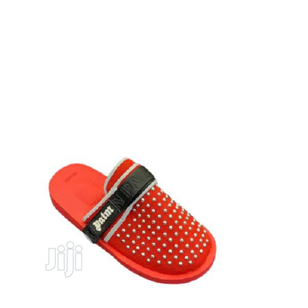 Palm Angels Padded Panelled Slides - Red J11 | Shoes for sale in Alimosho, Lagos State, Nigeria