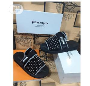 Palm Angels Padded Panelled Slides - Black   Shoes for sale in Lagos State, Alimosho