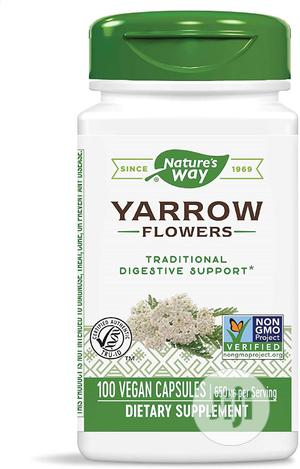 Nature's Way Yarrow Flowers, 650 Mg Per Serving, 100 Caps | Vitamins & Supplements for sale in Lagos State, Lekki