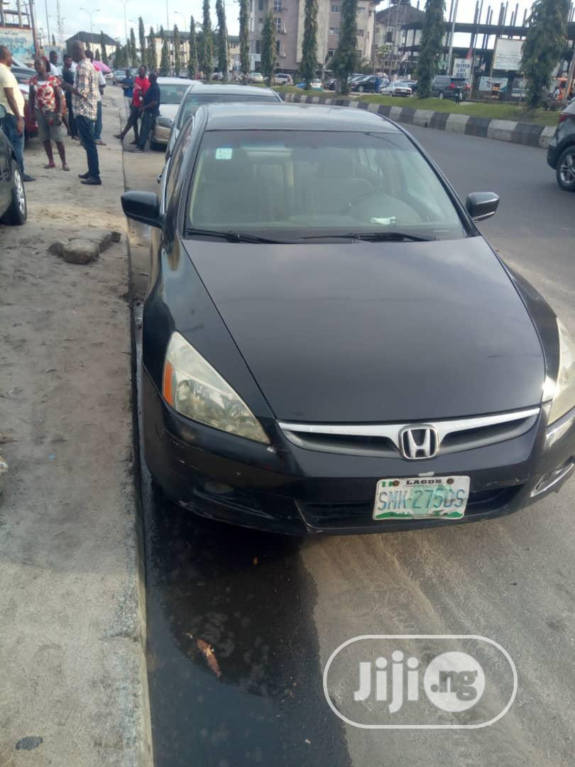 Honda Accord 2007 2.4 Exec Automatic Black | Cars for sale in Port-Harcourt, Rivers State, Nigeria