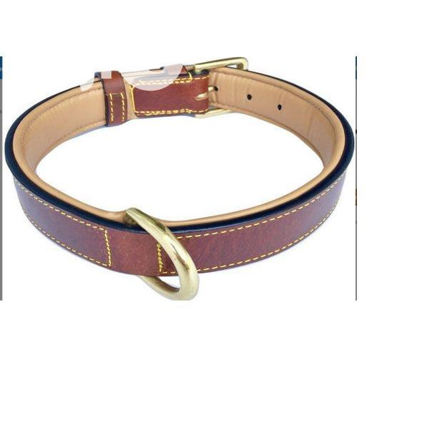 Soft Touch Collars Leather Two-tone Padded Dog Collar (Brown | Pet's Accessories for sale in Amuwo-Odofin, Lagos State, Nigeria
