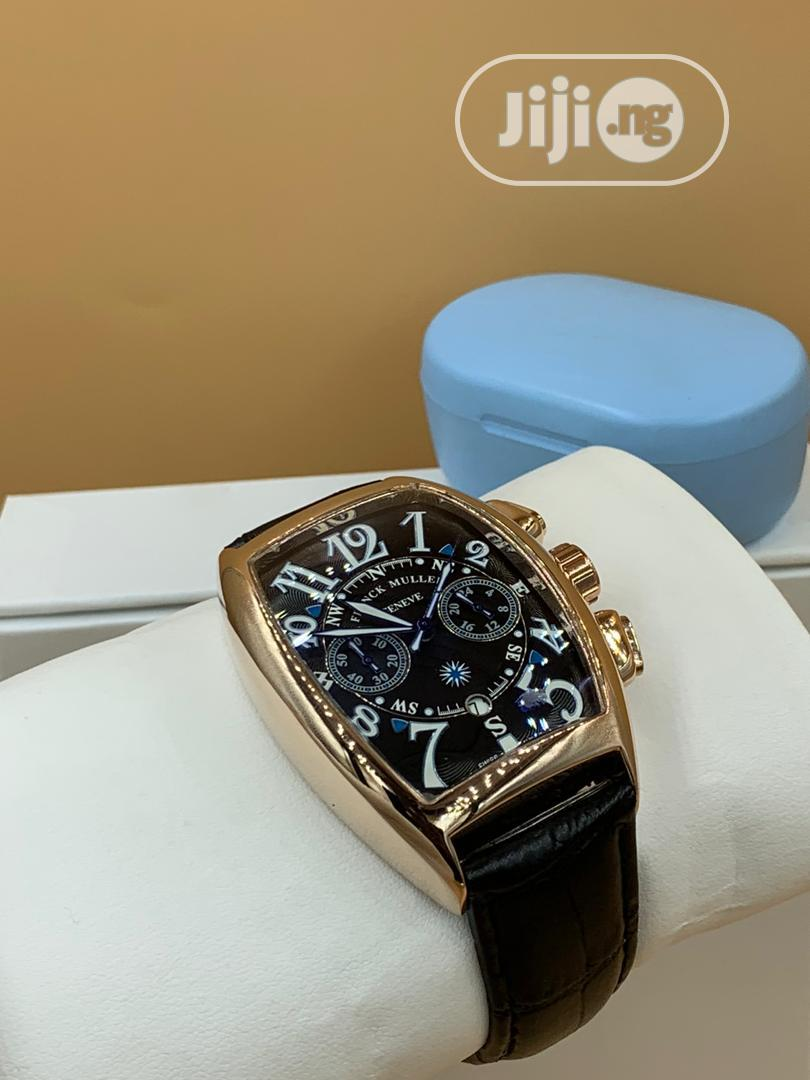 Frank Muller Leather Wrist Watch | Watches for sale in Lagos Island (Eko), Lagos State, Nigeria