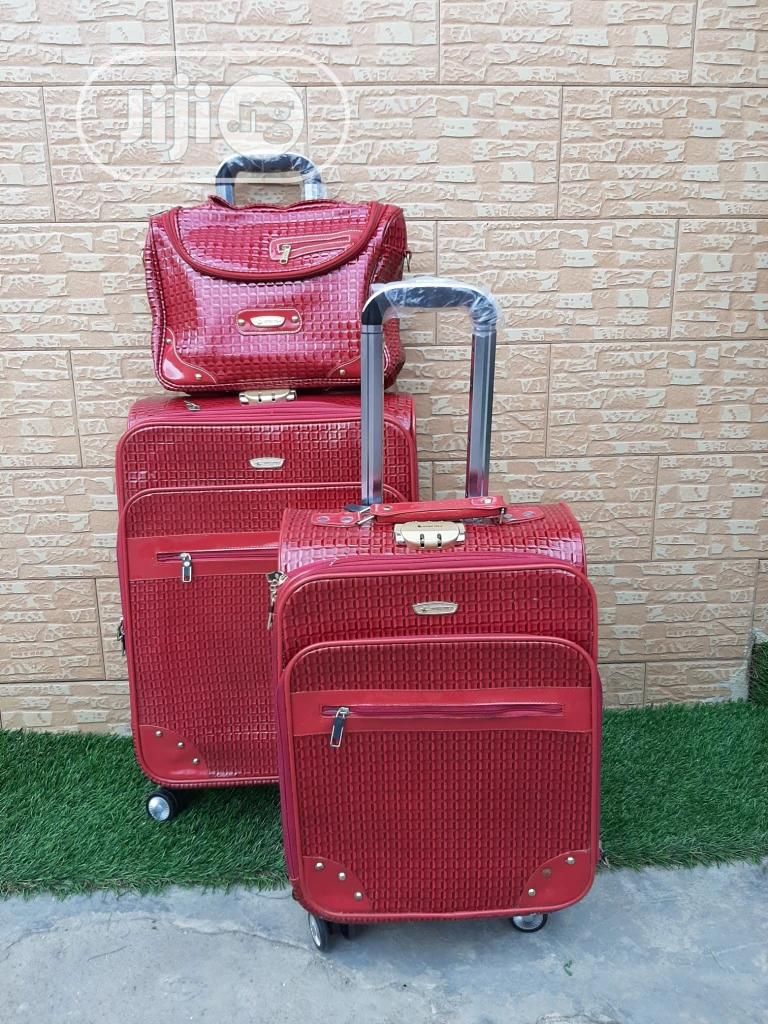 Genuine Leather Trolley Travel Bags ( 3 Sets) | Bags for sale in Ikeja, Lagos State, Nigeria