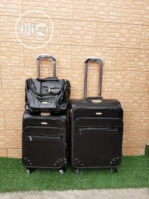Fine Unisex Black Leather Trolley Bags | Bags for sale in Lagos State, Ikeja