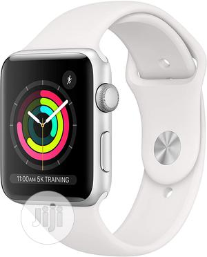 Apple Watch Series 3 (42mm/44mm) With White Sport Band | Smart Watches & Trackers for sale in Lagos State, Ikeja